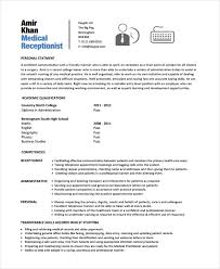 Gallery Of Receptionist Resume Template 7 Free Word Pdf Document