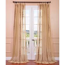 exclusive fabrics cleopatra gold embroidered sheer curtain panel