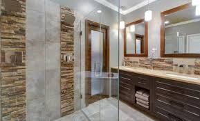 natural stone veneers used in bathroom