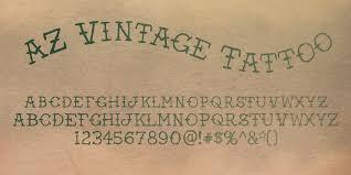 Fontspring Az Vintage Tattoo Font By Artist Of Design