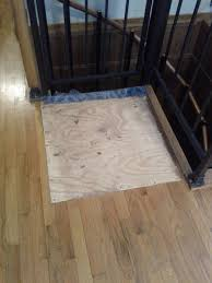 repair is it possible to replace this board in the floor with bruce hardwood flooring for