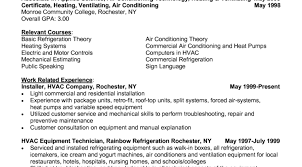 Air Conditioner Sample Resume For Air Conditioning Technician