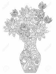 大人のイラストの塗り絵花のブーケ大人のデイジーぬりえ花の抗ストレススタイル