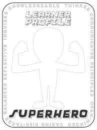 Learner Profile Superhero Show Your Understanding