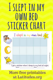 Free Sticker Chart Free Sticker Behavior Chart Slept In My Own Bed Acn