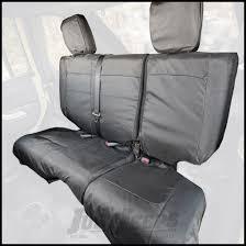 rugged ridge rear black ballistic seat cover set for 2016 18 jeep wrangler jk unlimited 4 door models
