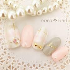 メルカリ ピンクグレーチェックネイル ネイルチップ付け爪