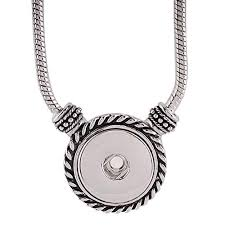 my prime gifts snap jewelry toggle necklace length 20 holds 18 20mm snaps