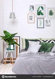 Schlafzimmer Innenraum Haus Stil Malerei Kronleuchter Blume