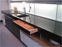 clever small kitchen design. built-in countertop drawer clever small kitchen design .