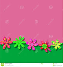 Pink Green Flower Frame wallpaper background Royalty Free Stock Photos