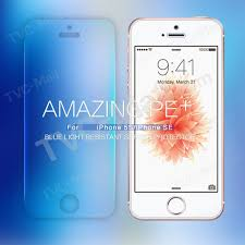 nillkin amazing pe for iphone se 5s 5 anti blue ray tempered glass screen