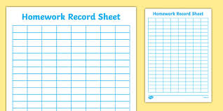 homework planner template pdf editable homework record chart howework record chart