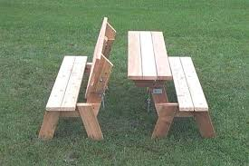 collapsible picnic tables easy table bench plans projects to try foldable folding nz