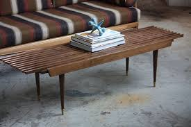 expanding slat bench coffee table