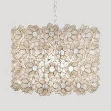 rosette capiz shell pendant chandelier by worlds away rosette lotus flower chandelier y74