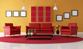 Image result for red and yellow paint home picture