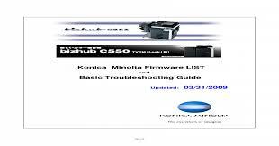 Download now bizhub 601 driver. Konica Minolta Firmware List Pdf Document