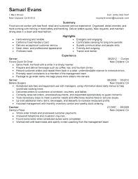 Fast Food Resume Wonderful Food Service Skills For Resume Food Service Resume Best Fast Food