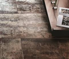 Metal floor tiles Garage Get Industrial With Metal Look Porcelain Tile Tile Home Guide Metal Look Porcelain Tile The Tile Home Guide