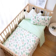 3Pcs <b>Baby Bedding</b> Set Cotton <b>Crib Bed</b> Linen <b>Kid</b> Duver Cover ...