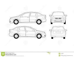 generic saloon car diagram royalty free stock photography image automotive wiring diagram color codes at Free Vehicle Diagrams