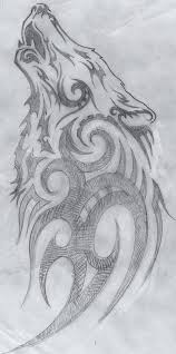 tribal wolf drawings in pencil. Unique Tribal Wolves Drawings Easy  Clipart Library Tribal Artwork And Culture On Wolf In Pencil B