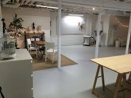 basement office design ideas. art studio in semi finished basement spray paint ceiling white office design ideas i