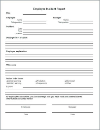 Workplace Incident Report Form Template Free Incident Report Form