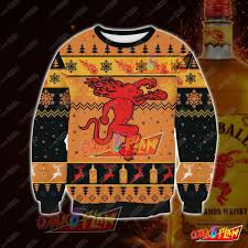 Fireball Cinnamon Whisky 3d Print Ugly Christmas New Year