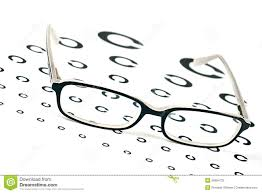Glasses On A Eye Sight Test Chart Stock Image Image Of