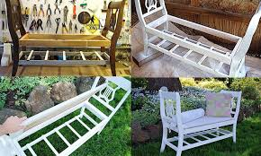 diy bench made from old wooden chairs repurposed furniture idea
