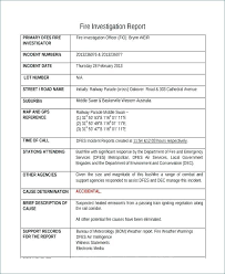 Accident Incident Investigation Report Template With