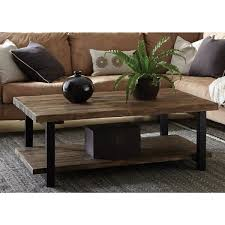 There's so much to love about this space. Alaterre Furniture Pomona 42 In Rustic Natural Black Large Rectangle Wood Coffee Table With Shelf Amba1120 The Home Depot