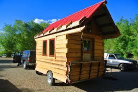 tiny house log cabin. Log Cabin Tiny House Elk Antlers Loft Detail Towing