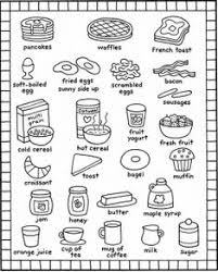 coloring breakfast coloring pages kids recipes books food and ki and ideas food coloring page gerardma