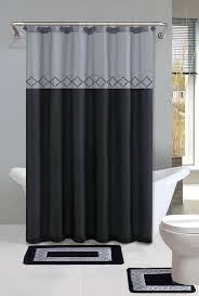 details about empire home 15 piece gray black bathroom set rugs free
