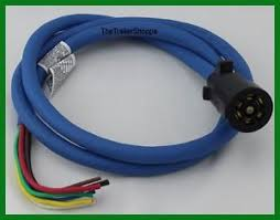 cold weather insulated trailer light plug wiring harness 7 way 6 image is loading cold weather insulated trailer light plug wiring harness