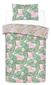 palm leaf single duvet cover