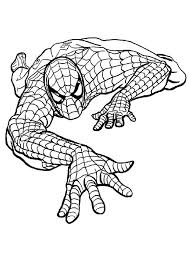 Coloring Spiderman Pages Coloring Print Out