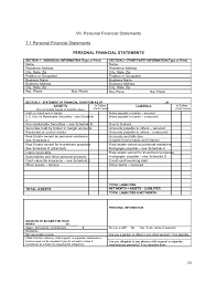 Personal Finance Balance Sheet Template New Bar Tavern Business Plan ...