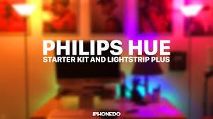 Philips Hue Lighting Youtube Philips Hue Starter Kit Lightstrip Plus