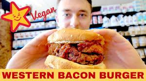 carl s jr vegan western bacon burger