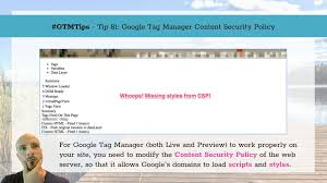 google manager content security