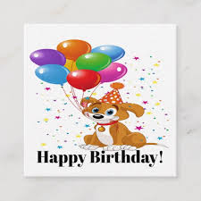 Happy Birthday Business Card Happy Birthday See Back Square Business Card