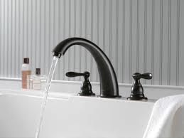 oil rubbed bronze tub faucet. Brilliant Bronze Delta BT2796OB Oil Rubbed Bronze Windemere Roman Tub Faucet Trim  Less  Rough In Valve Faucetcom N