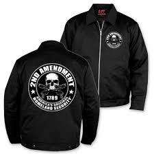 hot leathers men s 2nd amendment black mechanics jacket