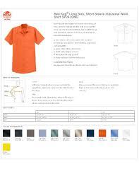 Red Kap Long Size Short Sleeve Industrial Work Shirt Sp24long