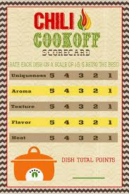 chili cook off judging sheet a pocket full of lds prints chili cook off scorecard 2016 summer