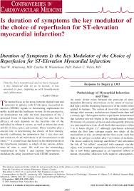 Duration Of Symptoms Is The Key Modulator Of The Choice Of